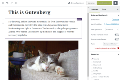 WordPress - Gutenberg Editor